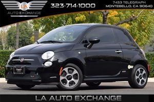 2013 FIAT 500e BATTERY ELECTRIC  Carfax 1-Owner - No AccidentsDamage Reported  Nero Puro Stra