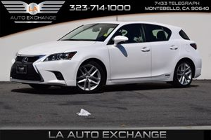 2015 Lexus CT 200h Hybrid Carfax 1-Owner  Eminent White  24842 Per Month -ON APPROVED CREDIT