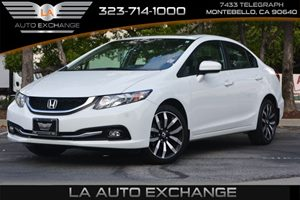2015 Honda Civic Sedan EX-L Carfax 1-Owner  White Orchid Pearl 21594 Per Month -ON APPROVED