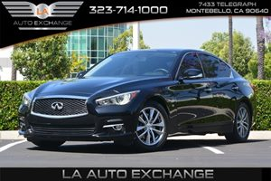2014 INFINITI Q50  Carfax 1-Owner - No AccidentsDamage Reported  Black Obsidian  27441 Per