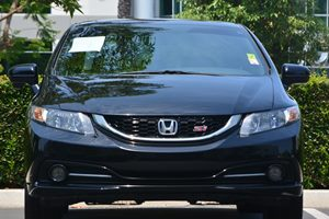 2014 Honda Civic Sedan Si Carfax Report - No AccidentsDamage Reported  Crystal Black Pearl 2