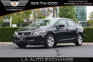 2014 Honda Civic Sedan LX Carfax 1-Owner - No AccidentsDamage Reported  Crystal Black Pearl