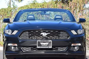 2016 Ford Mustang EcoBoost Premium Carfax 1-Owner  Shadow Black  We are not responsible for ty