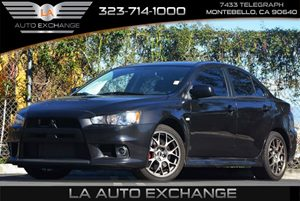 2014 Mitsubishi Lancer Evolution MR Carfax 1-Owner Air Conditioning  AC Audio  Cd Player Con