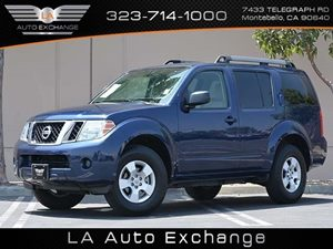 2012 Nissan Pathfinder S Carfax 1-Owner - No Accidents  Damage Reported to CARFAX  Navy Blue