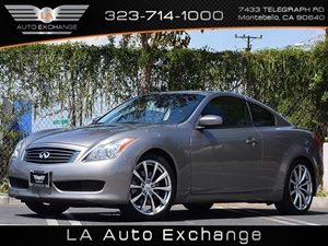 2009 Infiniti G37 Coupe Journey Carfax 1-Owner  Silver  All advertised prices exclude governme