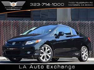 2012 Honda Civic Cpe Si Carfax Report - No Accidents  Damage Reported to CARFAX  Crystal Black