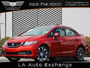 2013 Honda Civic Sdn Si Carfax 1-Owner  Rallye Red  All advertised prices exclude government f