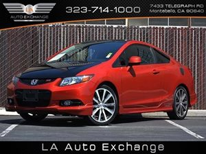 2012 Honda Civic Cpe Si Carfax Report  Rallye Red  All advertised prices exclude government fe