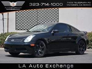 2006 Infiniti G35 Coupe  Carfax Report - No Accidents  Damage Reported to CARFAX  Black Obsidi