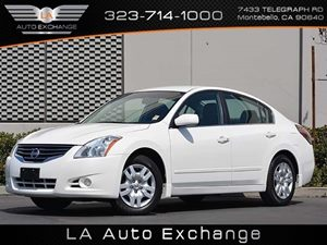 2012 Nissan Altima 25 S Carfax 1-Owner  White  All advertised prices exclude government fees