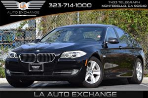 2013 BMW 5 Series 528i Carfax 1-Owner 3-Point Safety Belts WForce Limiters  Head Restraints At