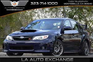 2013 Subaru Impreza Sedan WRX WRX STI Carfax 1-Owner 3-Point Height-Adjustable Front Seatbelts W