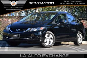 2013 Honda Civic Sdn LX Carfax 1-Owner - No Accidents  Damage Reported to CARFAX 4-Wheel Anti-Lo