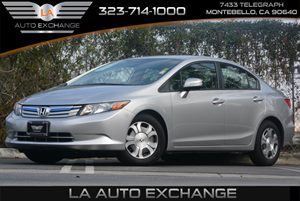 2012 Honda Civic Hybrid  Carfax 1-Owner - No Accidents  Damage Reported to CARFAX Brake Assist