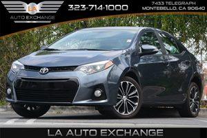 2015 Toyota Corolla S Carfax Report 5 Person Seating Capacity Air Filtration Audio  AmFm Ster
