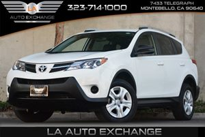 2014 Toyota RAV4 LE Carfax 1-Owner 4 Cylinders Audio  AmFm Stereo Audio  Auxiliary Audio Inp