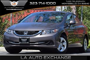 2013 Honda Civic Sdn LX Carfax 1-Owner - No Accidents  Damage Reported to CARFAX 18L Sohc Mpfi