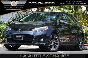 2014 Toyota Corolla S Plus Carfax 1-Owner 80 Amp Alternator Airbag Occupancy Sensor Back-Up Cam