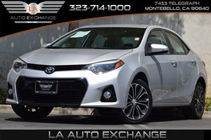 2014 Toyota Corolla S Carfax 1-Owner 132 Gal Fuel Tank 476 Axle Ratio 5 Person Seating Capac