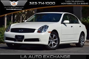 2006 Infiniti G35 Sedan  Carfax Report 110 Amp Alternator All Wheel Drive Convenience  Cruise