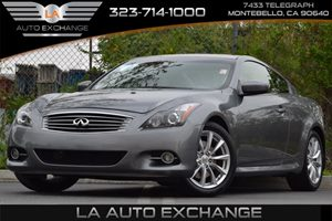 2013 Infiniti G37 Coupe Journey Carfax 1-Owner 4-Wheel Anti-Lock Braking System Abs Convenienc
