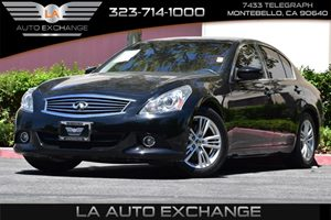 2013 Infiniti G37 Sedan Journey Carfax 1-Owner  Black Obsidian  All advertised prices exclude