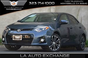 2015 Toyota Corolla S Carfax 1-Owner 476 Axle Ratio 80 Amp Alternator Back-Up Camera Front-Wh