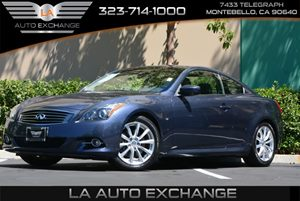 2014 Infiniti Q60 Coupe Journey Carfax 1-Owner - No Accidents  Damage Reported to CARFAX  Blue
