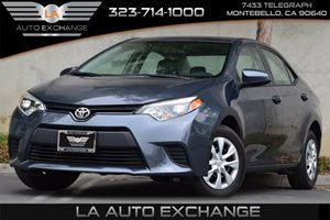 2014 Toyota Corolla L Carfax 1-Owner 132 Gal Fuel Tank 80 Amp Alternator Airbag Occupancy Sen