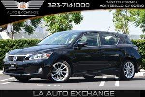 2013 Lexus CT 200h Hybrid Carfax 1-Owner  Black  All advertised prices exclude government fees
