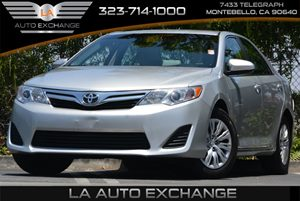 2013 Toyota Camry LE Carfax 1-Owner 6 Bottle Holders 6-Way Manual Driver Seat Color-Keyed Man