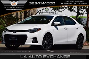 2014 Toyota Corolla S Carfax 1-Owner 4 Cylinders 4-Way Passenger Seat 5 Person Seating Capacity