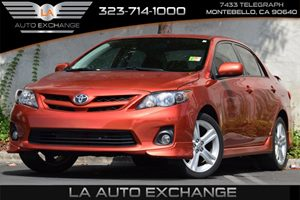2013 Toyota Corolla S Carfax 1-Owner  Barcelona Red Metallic 17697 Per Month -ON APPROVED CR