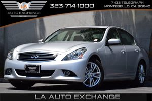 2013 Infiniti G37 Sedan Journey Carfax 1-Owner 4-Wheel Anti-Lock Braking System Abs Convenienc