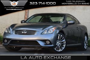 2014 Infiniti Q60 Coupe Sport Carfax 1-Owner - No Accidents  Damage Reported to CARFAX 130 Amp A