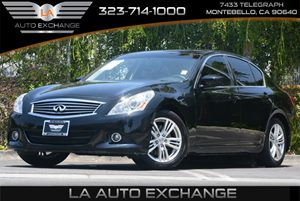 2013 Infiniti G37 Sedan Journey Carfax Report 8-Way Pwr Front Passenger Seat Air Conditioning