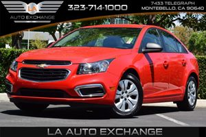 2015 Chevrolet Cruze LS Carfax 1-Owner Axle 372 Final Drive Ratio Convenience  Adjustable Ste