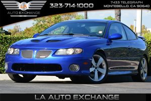 2006 Pontiac GTO  Carfax Report 8 Cylinders Displacement  6L Engine Engine Type  8 Cylinder E