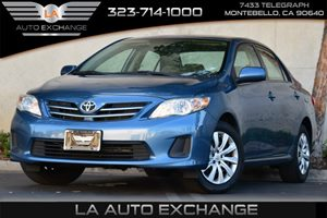 2013 Toyota Corolla L Carfax 1-Owner Audio  Auxiliary Audio Input Convenience  Adjustable Stee