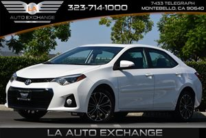 2015 Toyota Corolla S Carfax 1-Owner  Super White  All advertised prices exclude government fe