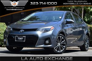 2015 Toyota Corolla S Carfax 1-Owner 476 Axle Ratio 80 Amp Alternator Airbag Occupancy Sensor