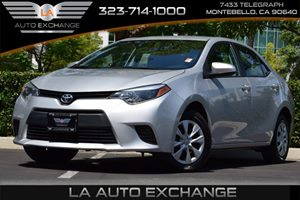 2014 Toyota Corolla L Carfax 1-Owner - No AccidentsDamage Reported 80 Amp Alternator Airbag Occ