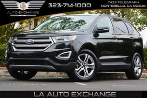 2015 Ford Edge Titanium Carfax 1-Owner  Gray  We are not responsible for typographical errors