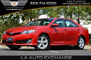 2014 Toyota Camry SE Carfax Report  Barcelona Red Metallic 20295 Per Month -ON APPROVED CRED