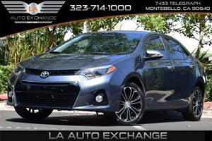 2016 Toyota Corolla S Carfax Report 5 Person Seating Capacity Airbag Occupancy Sensor Convenien