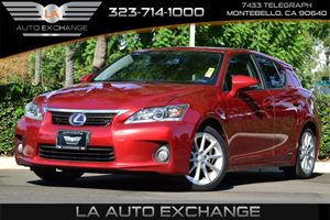 2013 Lexus CT 200h Hybrid Carfax Report - No AccidentsDamage Reported  Matador Red Mica  All