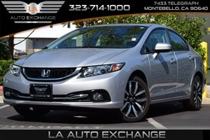 2015 Honda Civic Sedan EX-L Carfax Report 394 Axle Ratio Airbag Occupancy Sensor Back-Up Camer