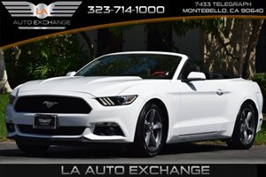 2015 Ford Mustang V6 Carfax 1-Owner  Oxford White  Happy Holiday Sale at LA Auto Exchange Grea