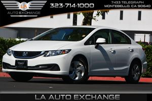 2013 Honda Civic Sdn LX Carfax Report 2-Speed Intermittent Windshield Wipers 4 Cylinders Air Co